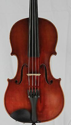 Nice old antique 4/4 Violin German Ludwig Paganini Two Piece back 360mm