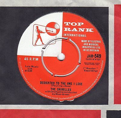 Very Rare The Shirelles  Dedicated To The One I Love   Top Copy