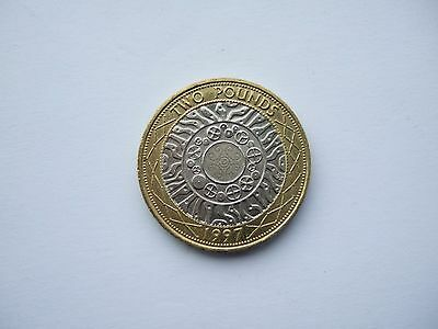 1997 (Rare) £2 Pound Coin-Queen With Necklace On