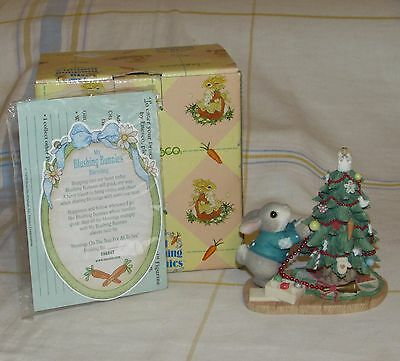 """ENESCO My Blushing Bunnies Christmas """"Blessings On The Tree For All To See"""""""
