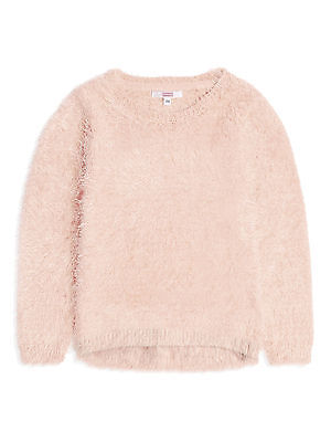 BNWT Girls Gorgeous Fluffy Knit Jumper Age 2-8 Years *FREE P&P*