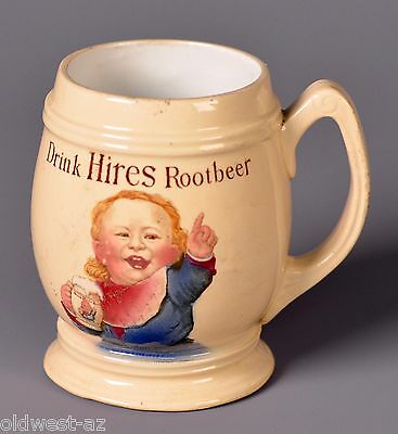Vintage Ceramic  or Pottery Hires Root Beer Mug - Germany - Colorful