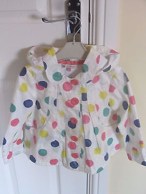 JOHN LEWIS  girls rain coat aged 2