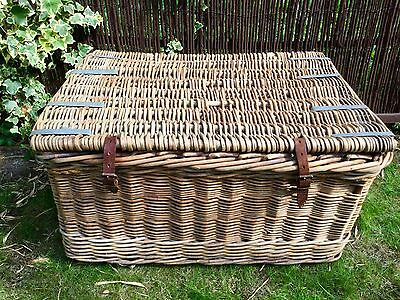 Old original large wicker basket excellent condition log basket