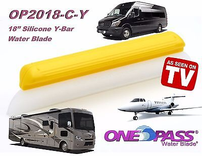 """ONE PASS Water Blade, 18"""" Silicone Y-Blade for Car,Truck, Boat, RV, or Plane"""