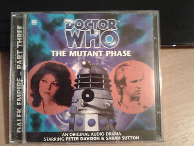 Dr Doctor Who Audio CD- Mutant Phase Big Finish 2000 - Peter Davison Daleks