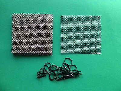 6 pads 7cm x 7cm - Aquarium Fish Tank Plants / Moss - Stainless Steel Wire Mesh