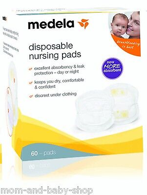 MEDELA BREAST MILK FEEDING DISPOSABLE MATERNITY PAD NURSING BRA PADS x60 #89974