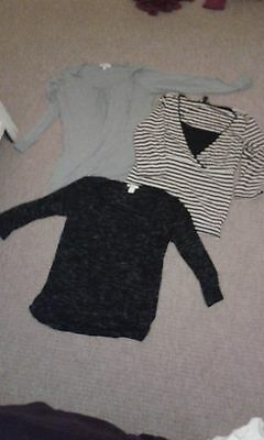 3 long sleeved breast feeding tops (Next, H&M)