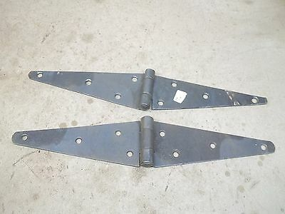 "Old Pair Barn Door Strap Hinges Lot SE 16"" total length"