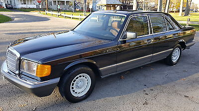 1982 Mercedes-Benz 300-Series W126 Body SD 1982 Mercedes 300SD Black Fantastic Turbo Diesel Amazing Rare Pampered SD L S TD