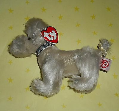 Ty Beanie Baby Grey  Poodle With Tag
