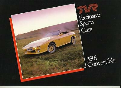 TVR 350i CONVERTIBLE SALES BROCHURE LATE 80'S