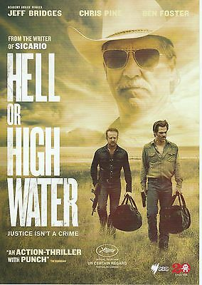 Promotional Movie Flyer - HELL OR HIGH WATER (2016) ***Jeff Bridges***