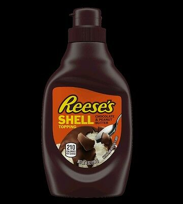 Reeses Peanut Butter Chocolate Flavoured Shell Ice Cream Topping