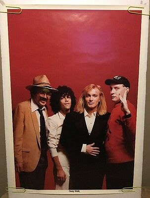 Cheap Trick Vintage Poster Pin-up Group Shot Rock & Roll Music Memorabilia 1980s