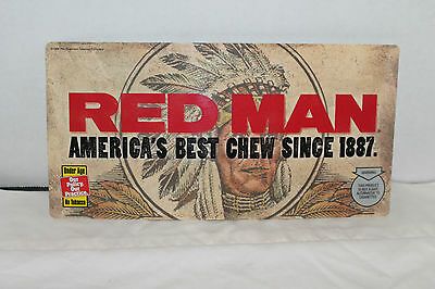 Red Man Chewing Tobacco License Plate
