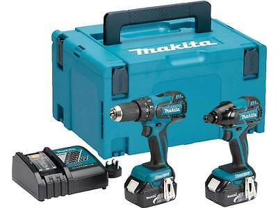 Makita DLX2007MJ 18v LXT Li-ion Brushless Twin Kit DHP459+DTD129 2x4ah + MAKPAC