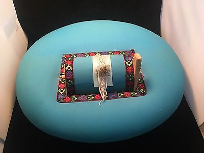 Vintage BOBBIN LACE MAKING PILLOW BOX   18""