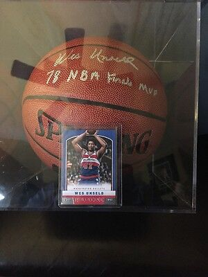 Wes Unseld signed NBA Indoor/Outdoor Basketball Signed  78 Finals MVP