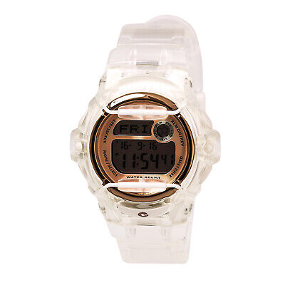 Casio BG169G-7B Lady's Rose Gold & Grey Digital Dial Dive Watch