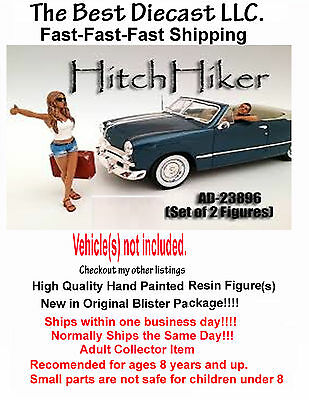 Hitchhiker Set American diorama 1:24 Set of two 2 Figures
