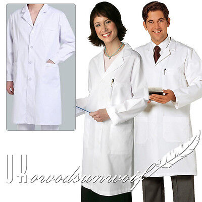 X Small X Large Doctor Coat White Lab Unisex Women Men Scientist Protection Wear