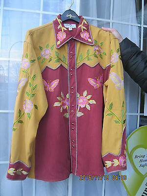 Mens GENE AUTRY Museum Repro Rose Butterfly Western Shirt
