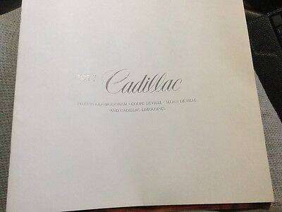 Vintage Cadillac Dealers Information Book From 1977
