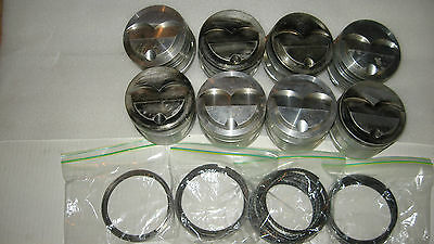 8 Venola Forged Pistons With Pins,rings And Teflon Buttons