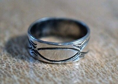 100great old navajo ingot coin silver ring early stamping