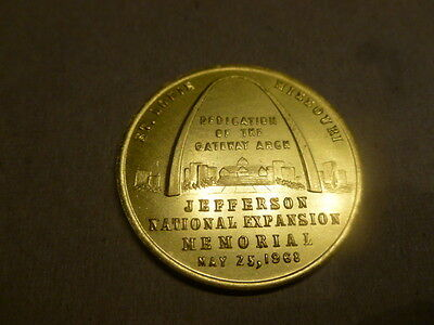 May 25 1969 St. Louis Dedication Gateway Of The Arch Coin Medal Mayor Cervantes