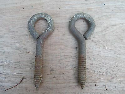 screw Plant hanger  Hook & eye Porch ceiling hanger  vintage rustic