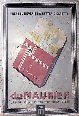 duMaurier cigarette advertising A4 sized metal sign - from 1950