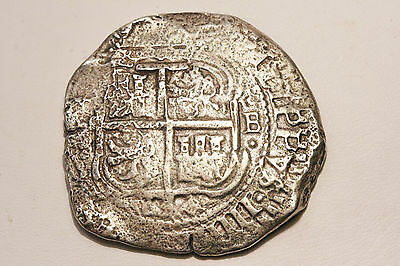 La Capitana 1654 Shipwreck Silver Cob Coin 8 Reales ! Weighs 21.8 Grams ! Wow !