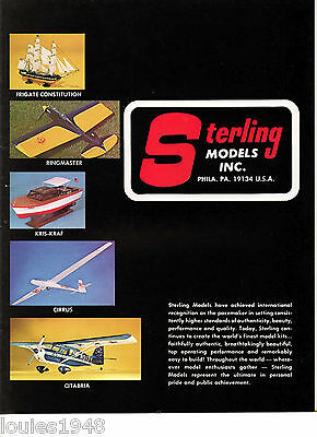 1986 Sterling Models KITS rubber or engine powered scale and original kits PLUS