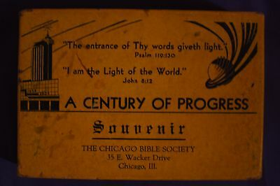 Chicago Worlds Fair Souvenir American Bible Society 9 Books In Original Box