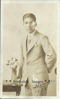 1929 Pre War Wwii Japanese Canadian K. Honda  Vancouver Bc Real Photo Postcard