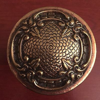 Antique Fancy Four Fold Victorian Heavy  Cast Brass Doorknob New Never Used