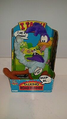 Talking Road Runner Plush Toy Box & Tags By Tyco 1994