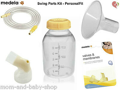 Medela Swing Breast Pump Part Kit Shield Tubing Bottle Connector Valve Membrane