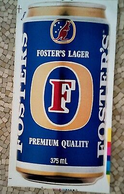 1980's Fosters Beer can sticker