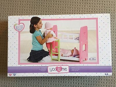 You&Me Baby Doll Toy Bunk Beds *New* RRP $49