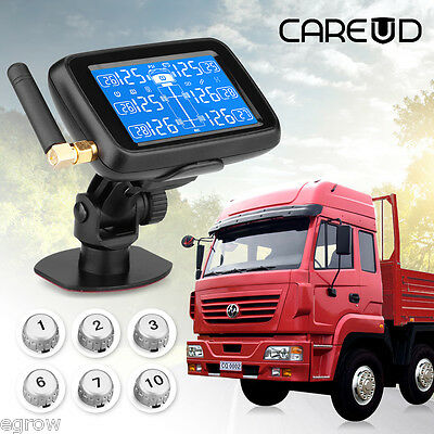 TPMS Tyre Pressure Monitoring System 6 External Tire Sensor LCD Wireless Cars AU