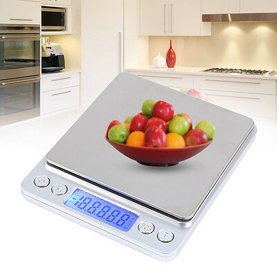 3000g/0.1g Jewelry Electronic Gram Digital Balance Weight Pocket Scale White