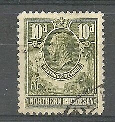 Northern Rhodesia - GV 10d definitive - SG9 - Superb used!