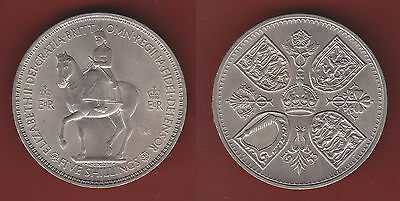 1953 GB Coronation 5s five shillings crown in plastic coin holder