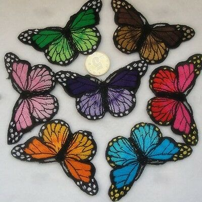 Pretty Cloth Sew DIY Patch Embroidered Butterfly iron on Appliques/scrapbook