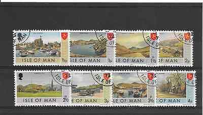 ISLE of MAN 1973 Low Value Definitives used