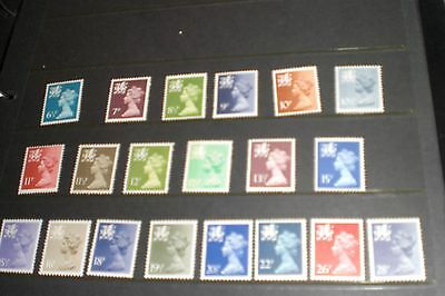 Wales Stamps-Early Definitives 20 Stamps Mint Unhinged